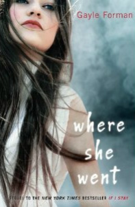 Where She Went cover image. A girl is staring away from the camera while her hair blows a bit in the wind. The background is smoky bluish gray and the text is all in lowercase.