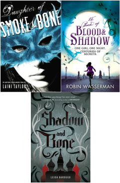 Shadow, bone, blood covers
