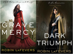 Grave Mercy and Dark Triumph covers
