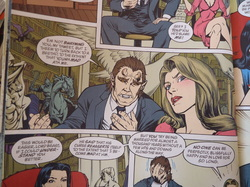Example of art and page from Fables series