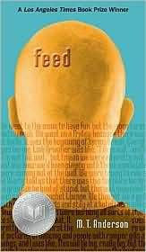 The cover of feed shows a bald man from behind. The background is blue and the bottom half is covered with words. (representing the feed)